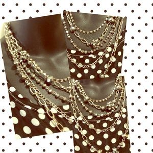 Live Laugh Love Bold 5 Strand Necklace & Earrings